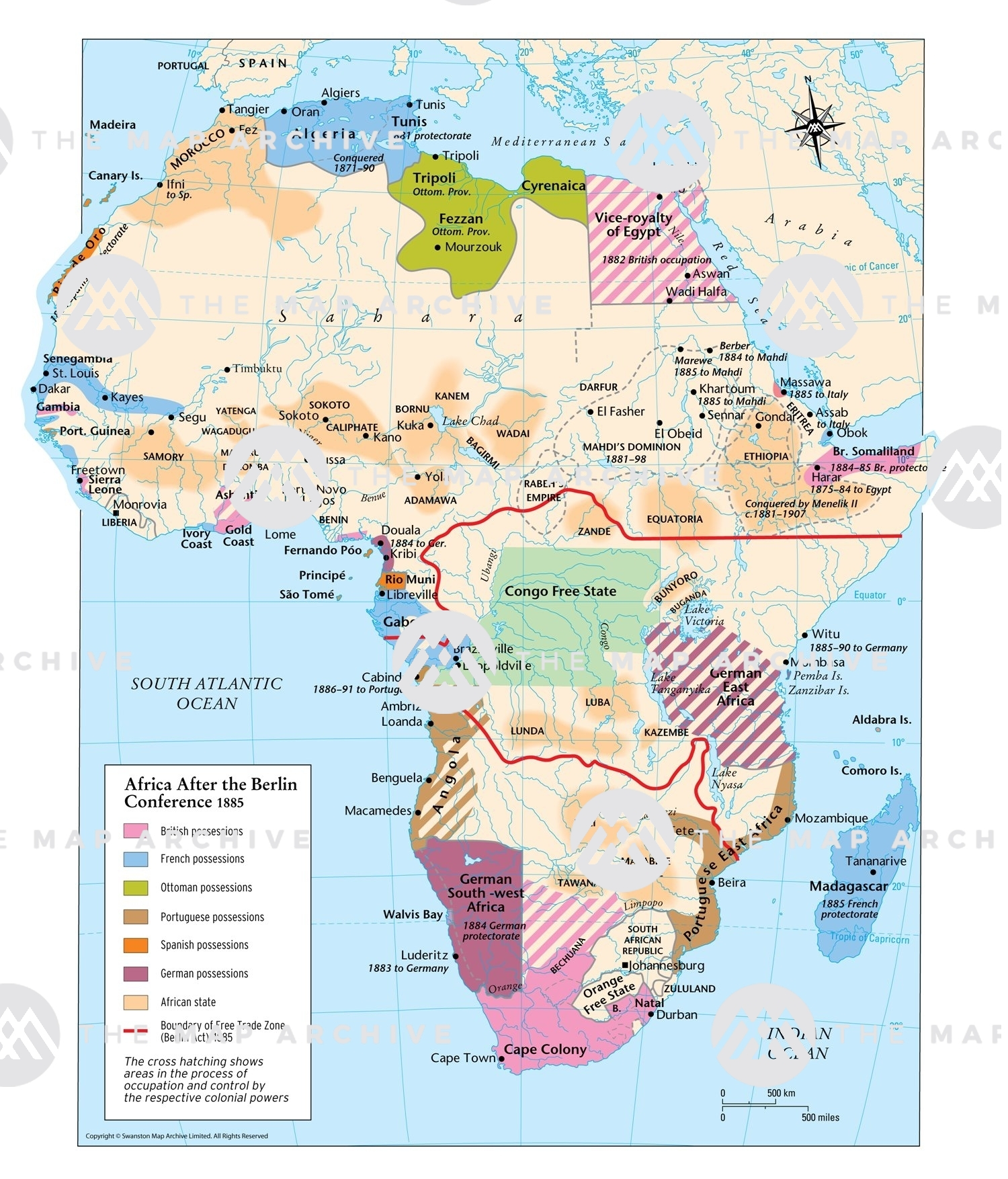 Map Of Africa After Berlin Conference Africa after the Berlin Conference 1885