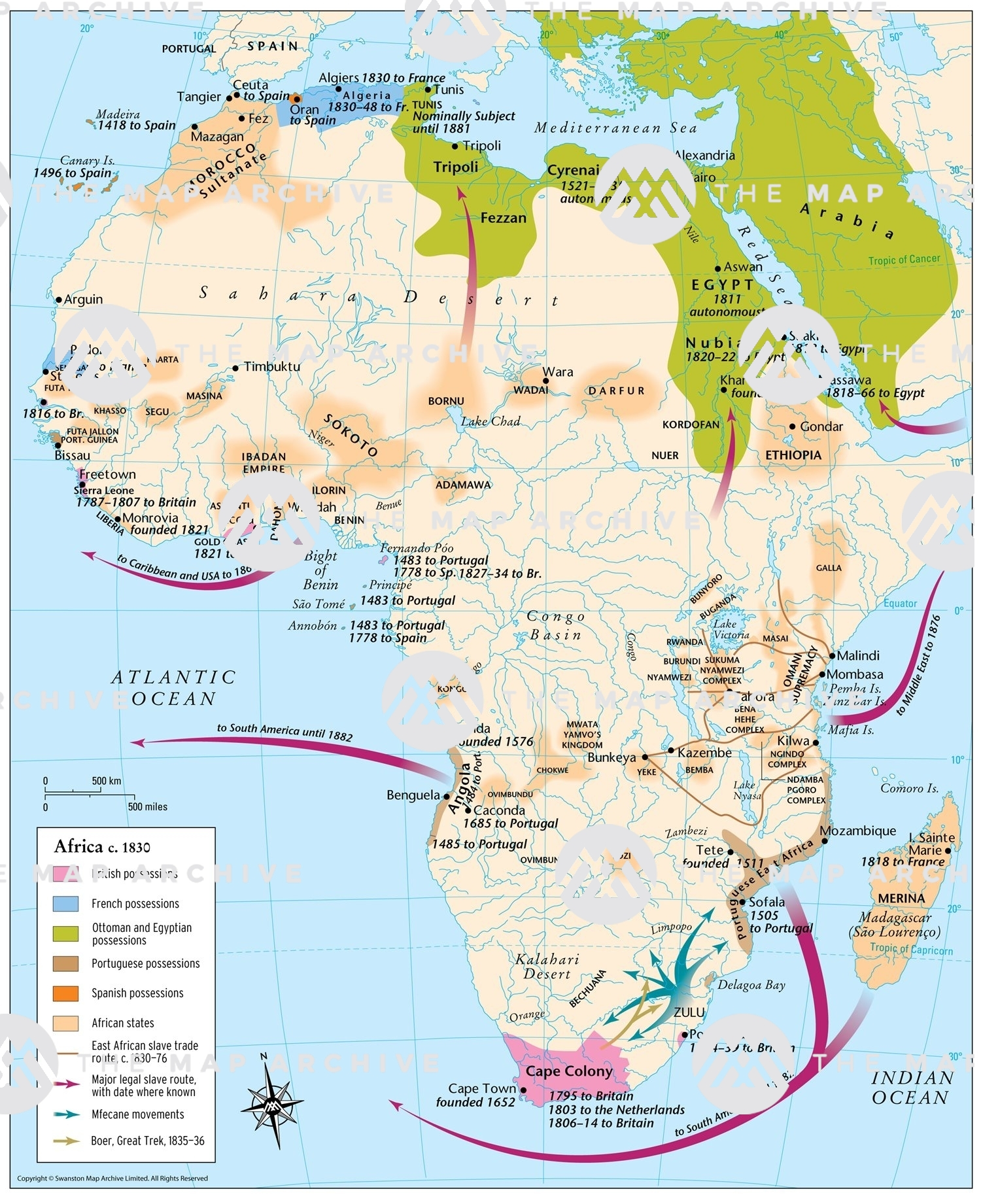 Africa Scramble Map The Scramble For Africa 1881–1914   The Map Archive