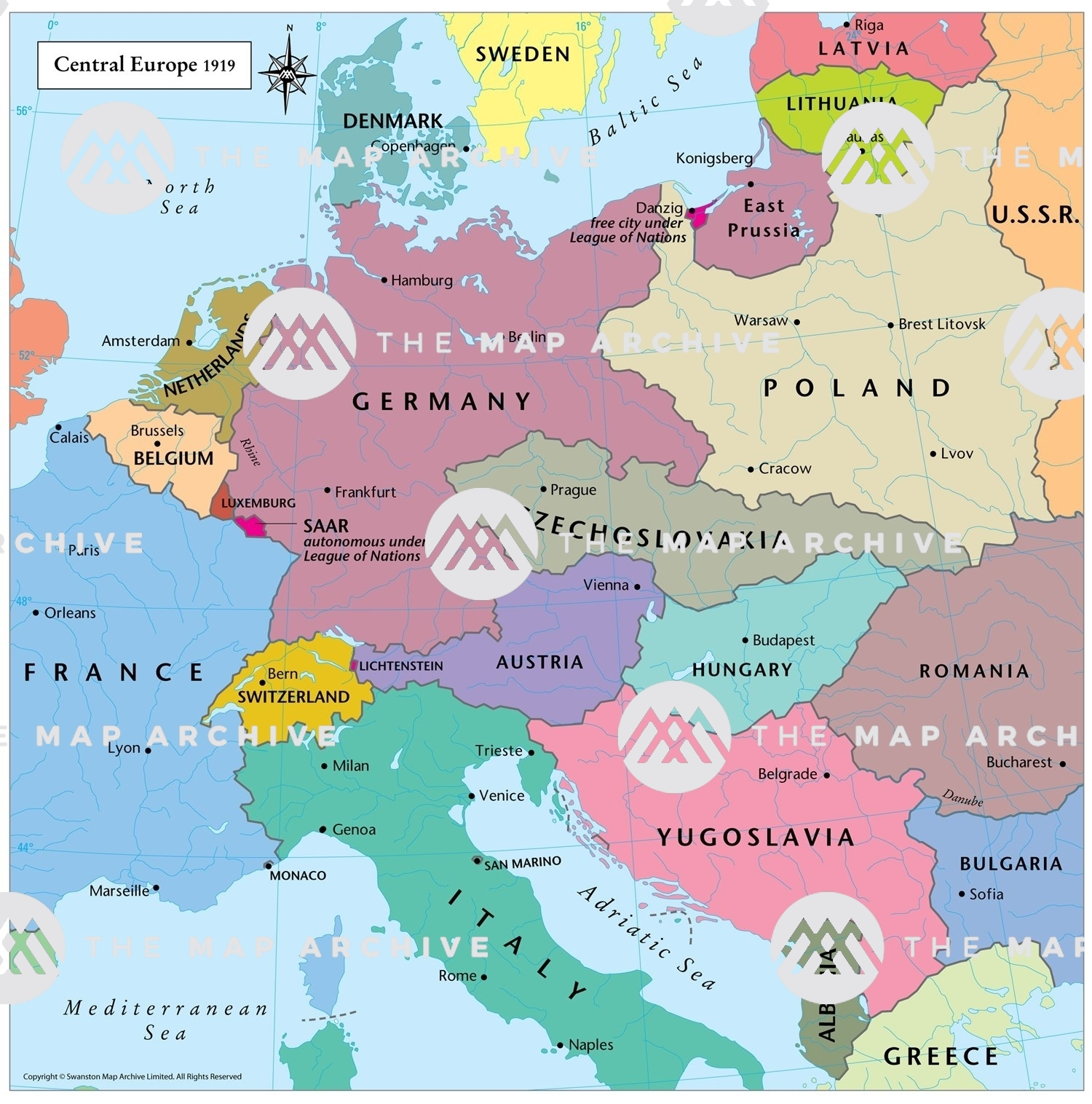 Picture of: Central Europe 1919